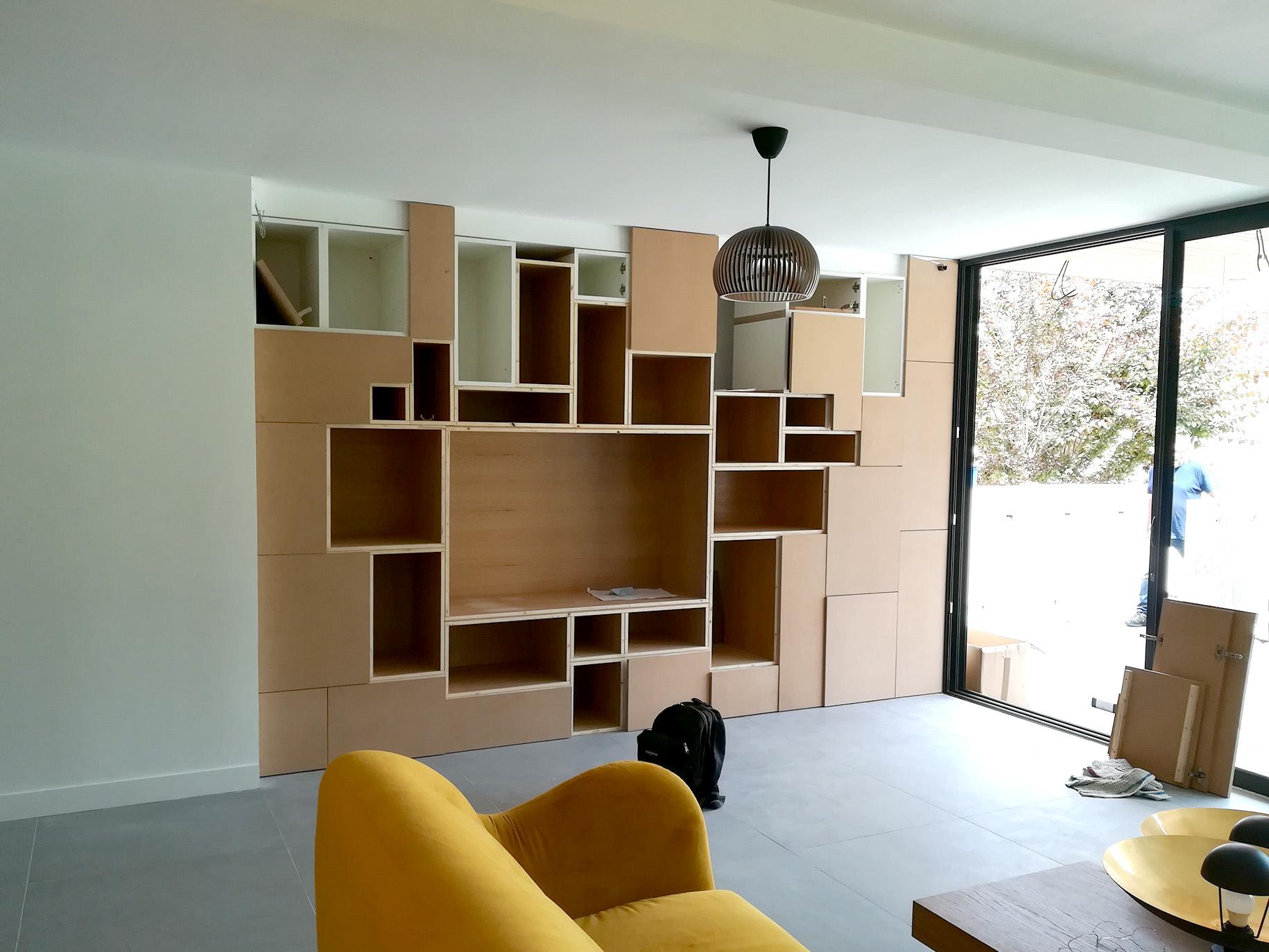 Meuble Sur Mesure Salon conception d'un meuble de salon sur mesure – lhenry cÔtÉ dÉco